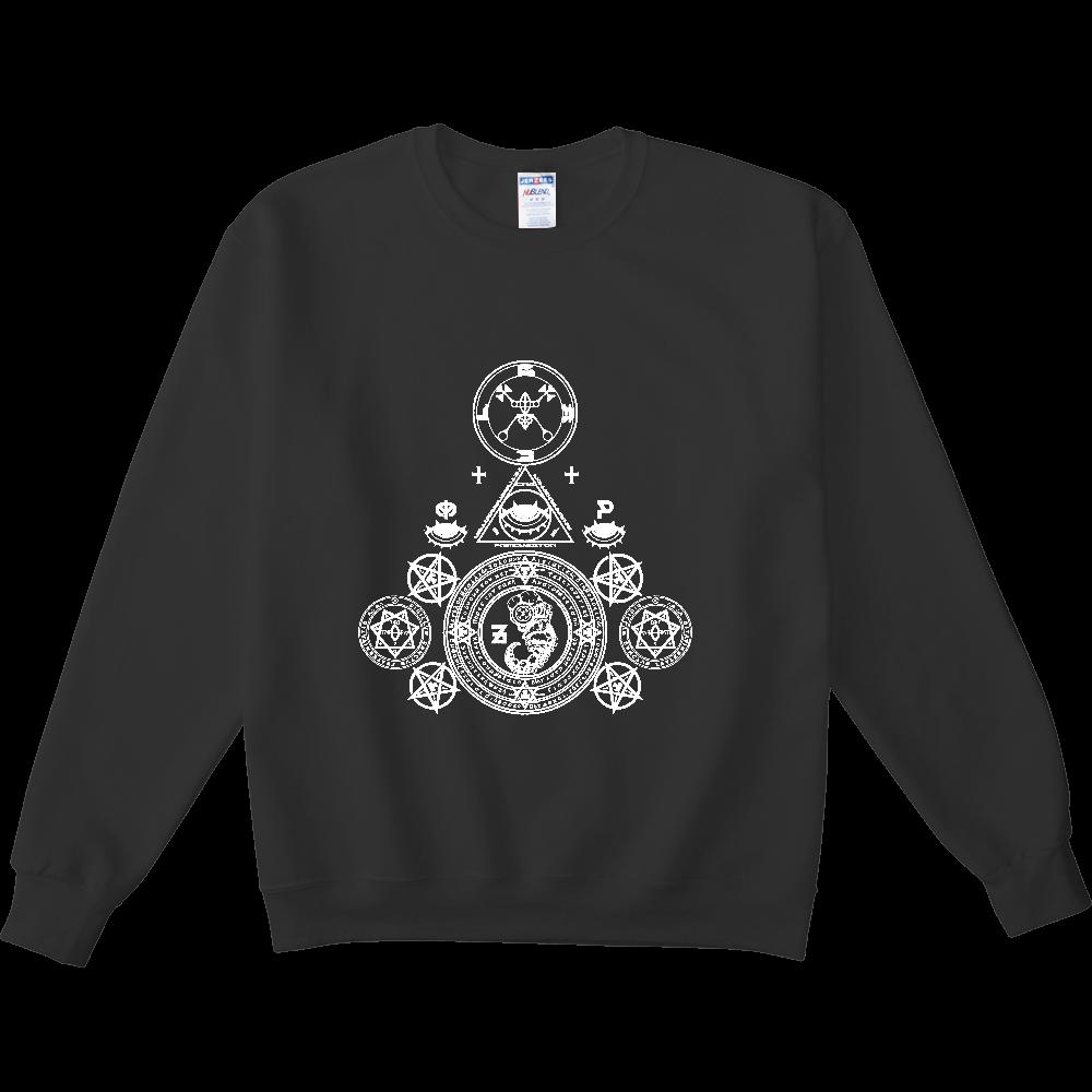 「悪魔降臨」白抜き NUBLENDスウェットシャツ