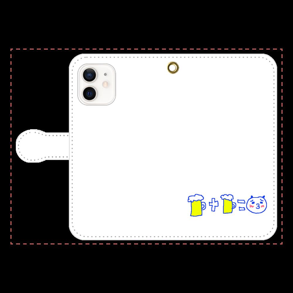 お酒大好きパンダ iPhone12/12pro 手帳型スマホケース