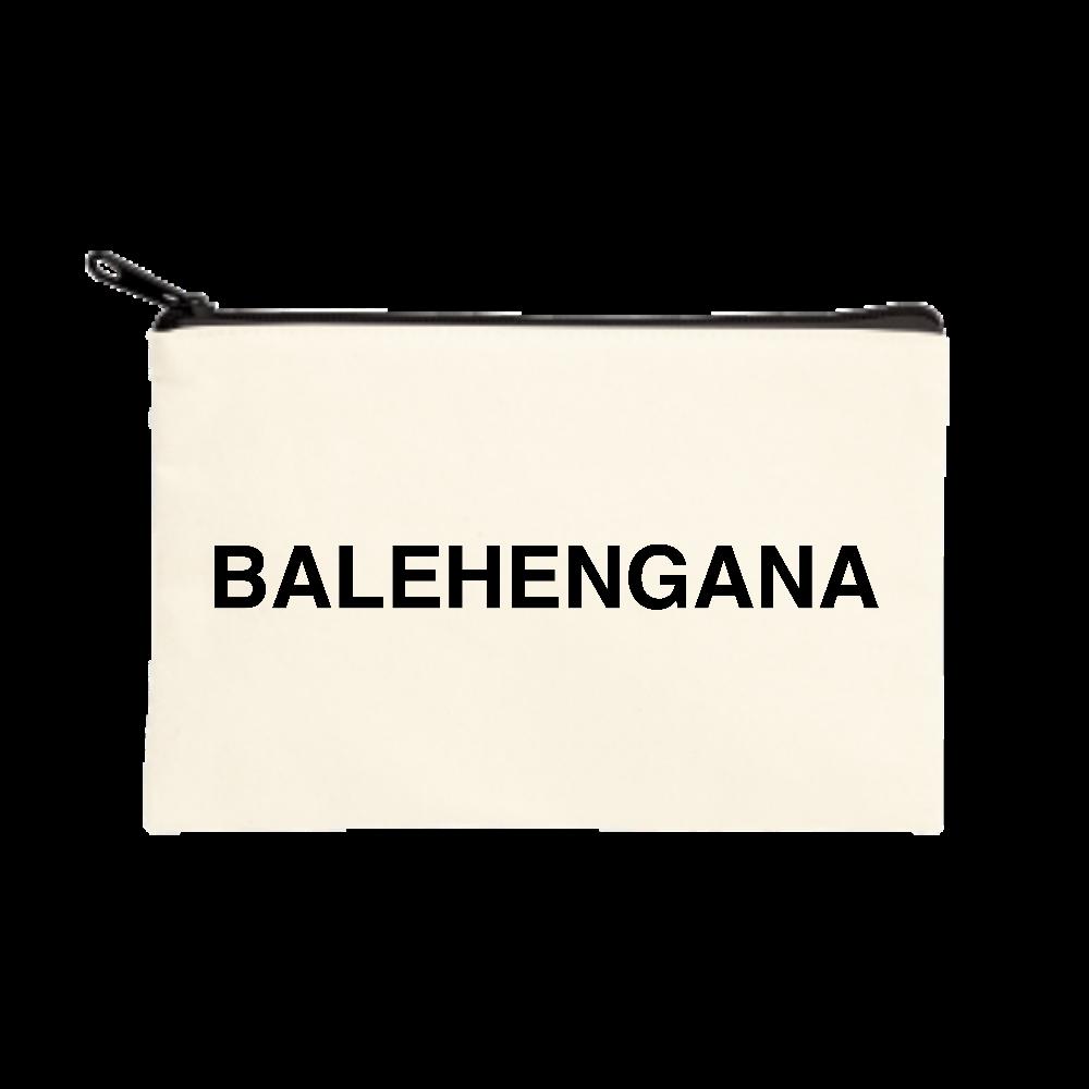 BALEHENGANA -バレヘンガナ ばれへんがな 黒ロゴ ポーチ(S)