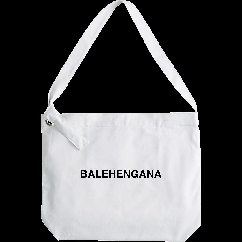 BALEHENGANA -バレヘンガナ ばれへんがな 黒ロゴ クラフトリングショルダーバッグ