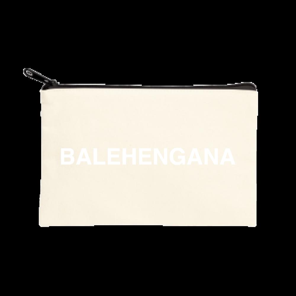 BALEHENGANA -バレヘンガナ ばれへんがな 白ロゴ ポーチ(S)