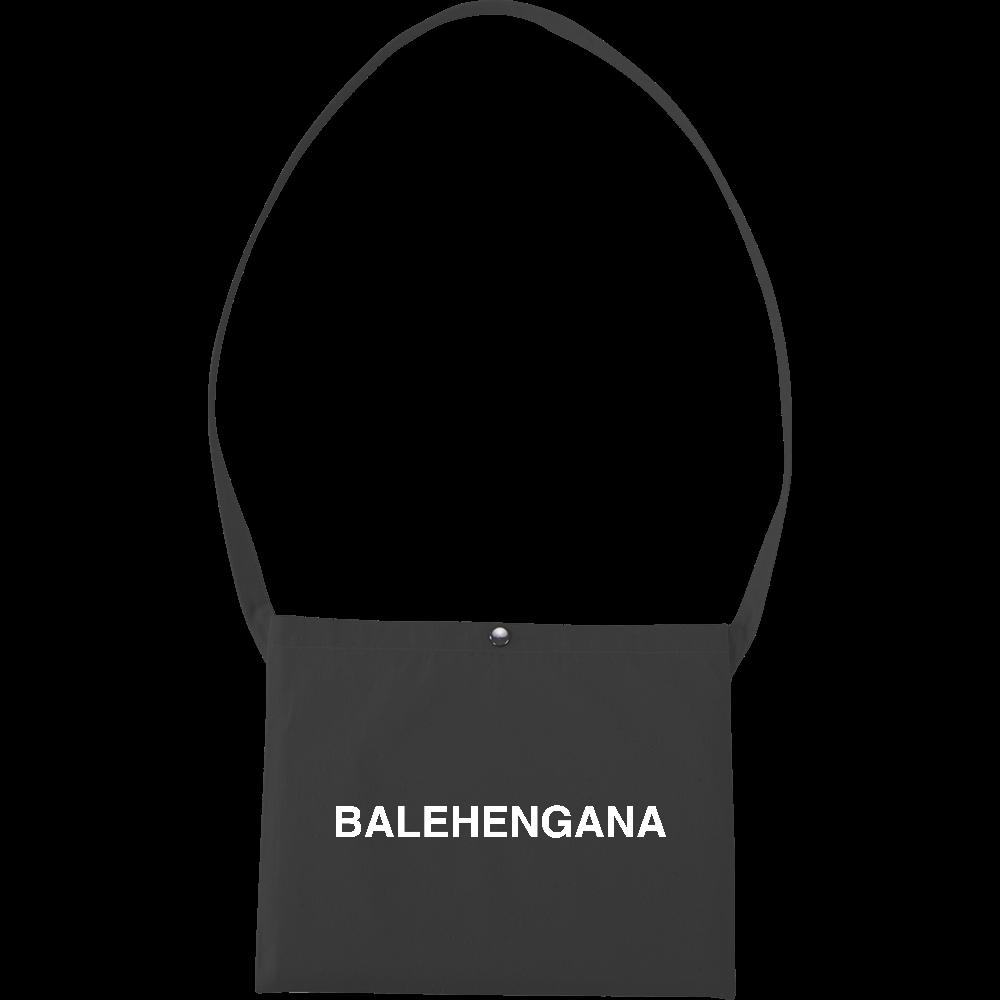 BALEHENGANA -バレヘンガナ ばれへんがな 白ロゴ キャンバスサコッシュ