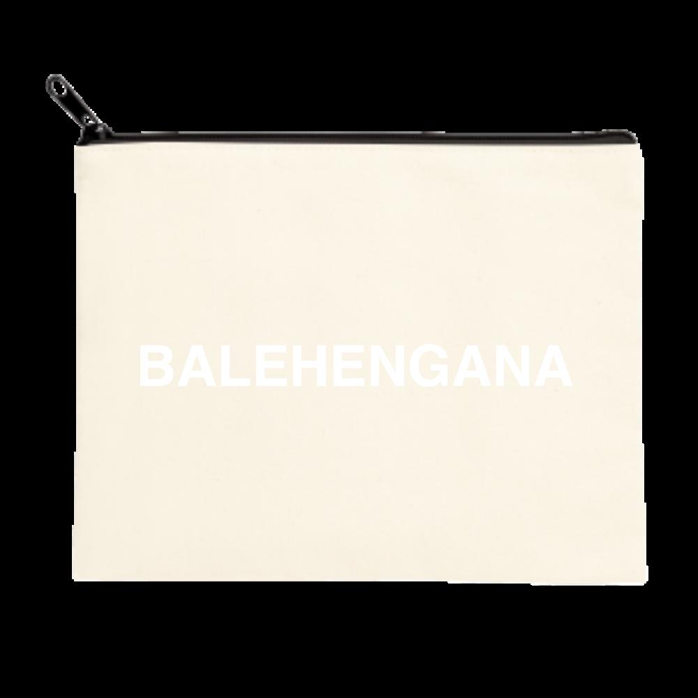 BALEHENGANA -バレヘンガナ ばれへんがな 白ロゴ ポーチ(M)
