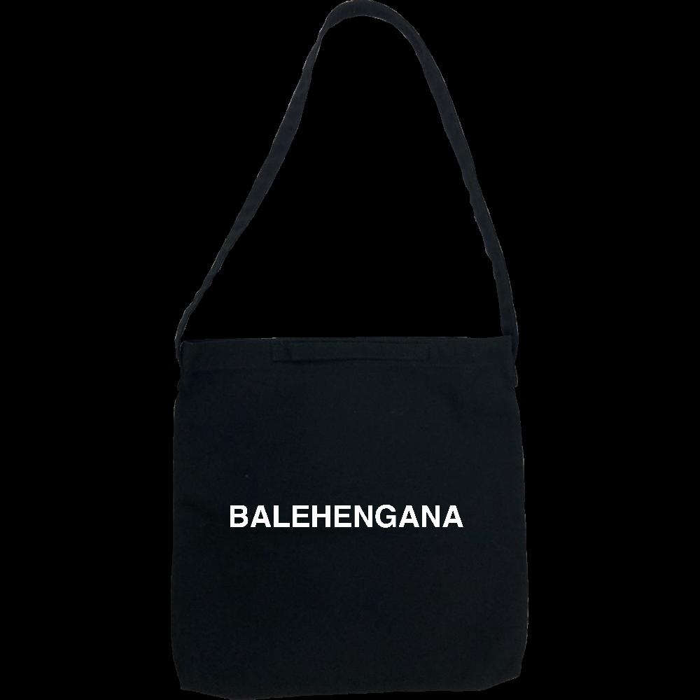 BALEHENGANA -バレヘンガナ ばれへんがな 白ロゴ ヘヴィーキャンバス 2WAYショルダーバッグ