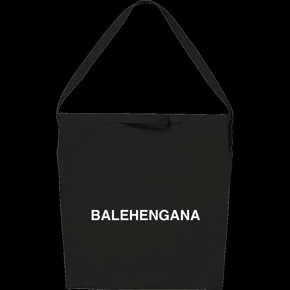 BALEHENGANA -バレヘンガナ ばれへんがな 白ロゴ キャンバスショルダーバッグ