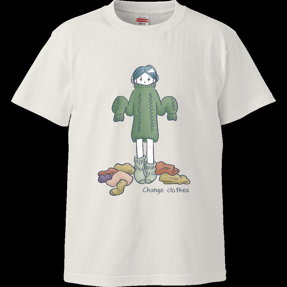 Change clothes ハイクオリティーTシャツ