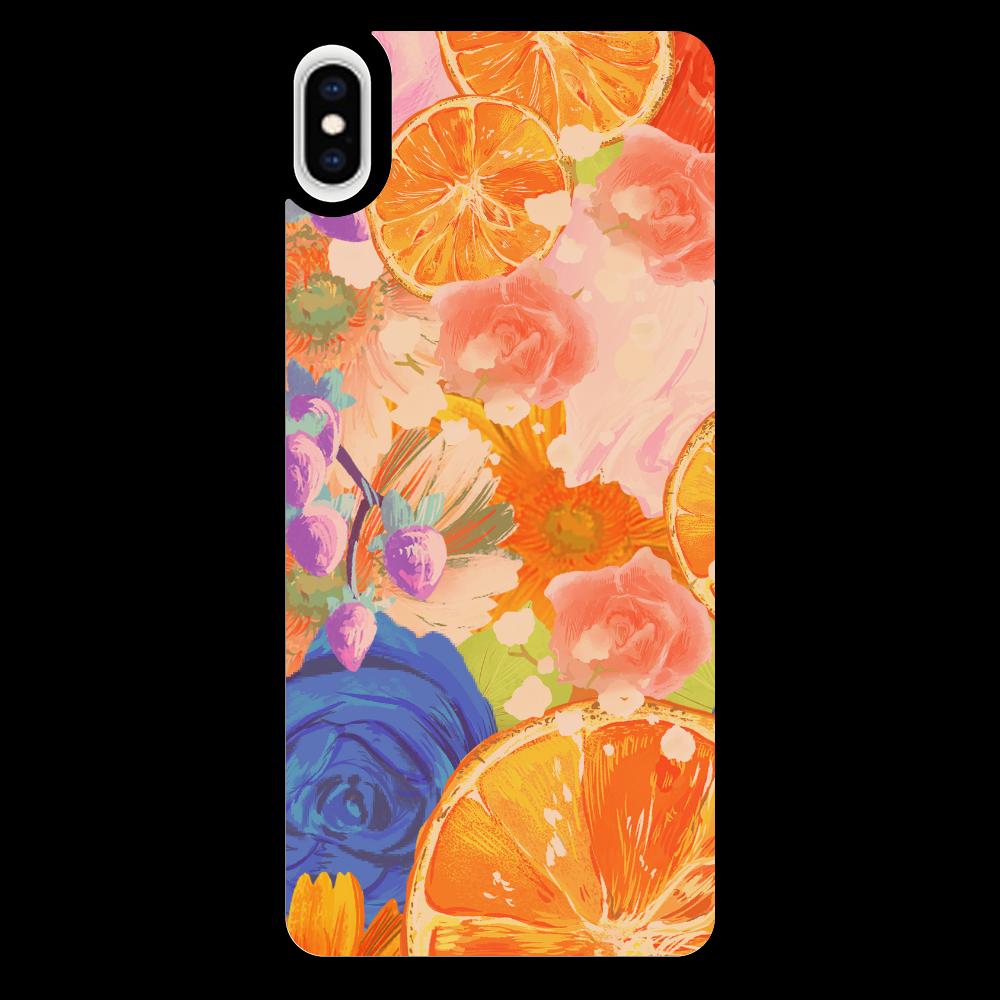 Flowersデザイン iPhoneケース iPhoneXsMAX_プリントパネルラバーケース
