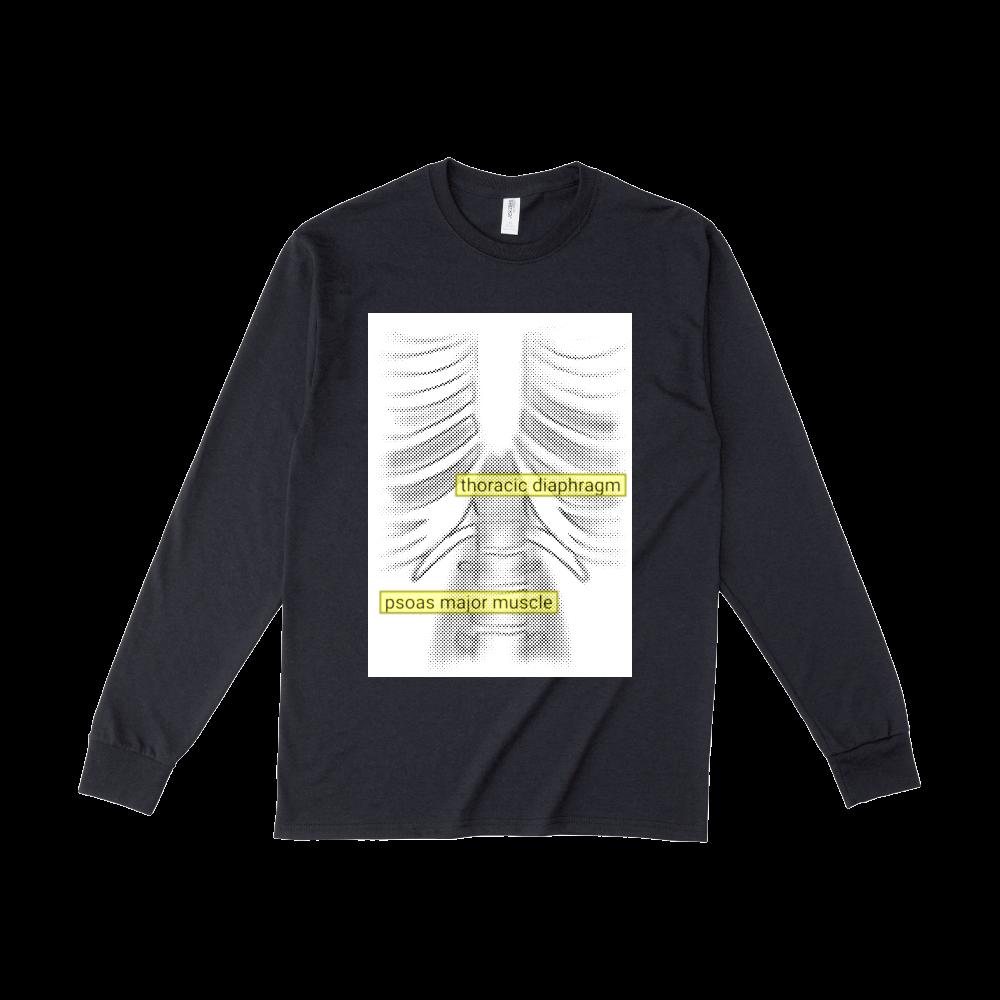 両面骨格プリントロングTシャツ ジャージーズDRI-POWERロングスリーブシャツ