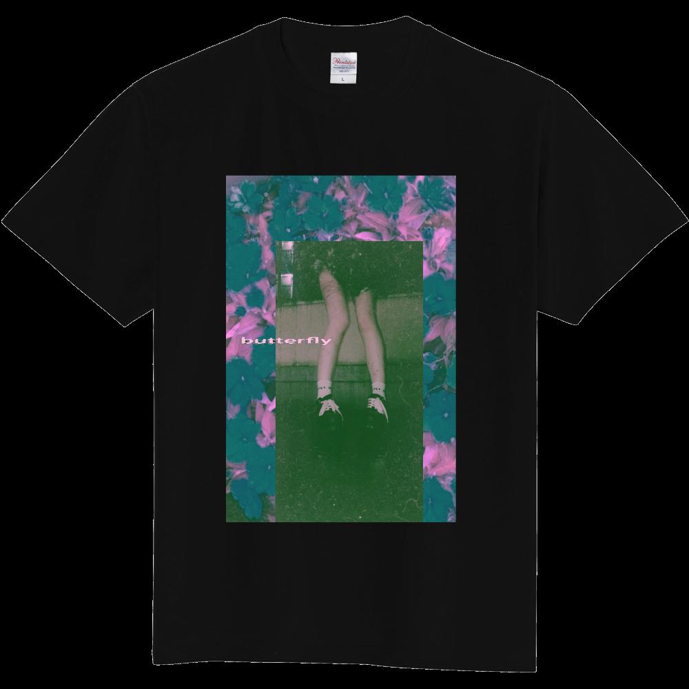 青木冥 butterfly pink 定番Tシャツ