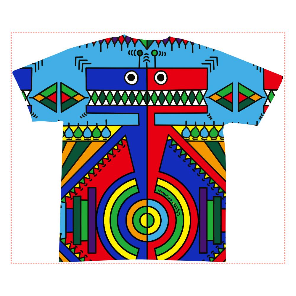 ノブヒロオオマツ 全面インクジェットTシャツ(S)