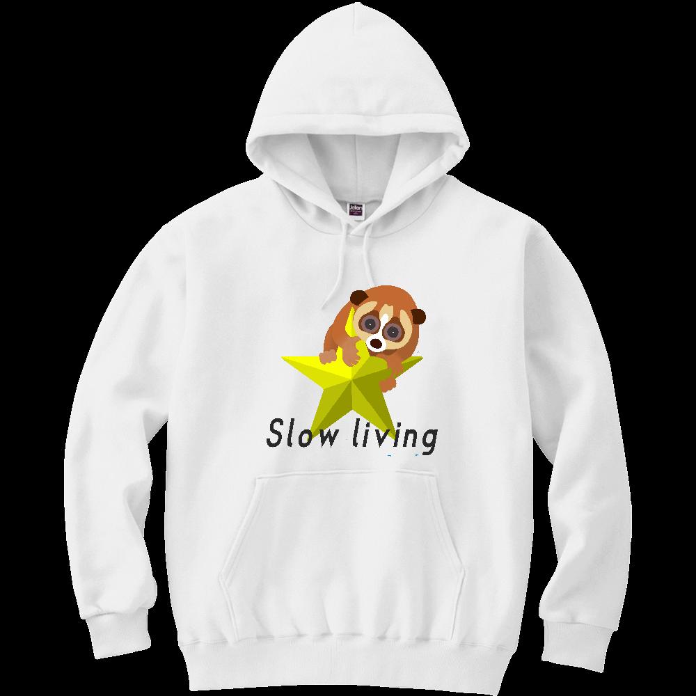 Slow living 軽量プルパーカー (長袖プリント)