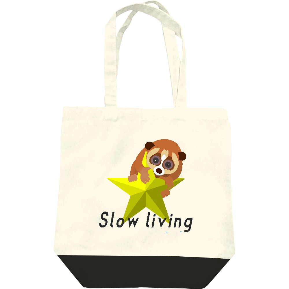 Slow living レギュラーキャンバストートバッグ(M)