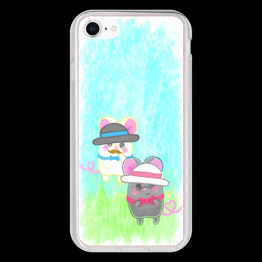 ねずみのテオと❁選べる♡iPhone抗菌ソフトケース♡(防水スマホケースも選べます♡) iPhone 8 抗菌ソフトケース