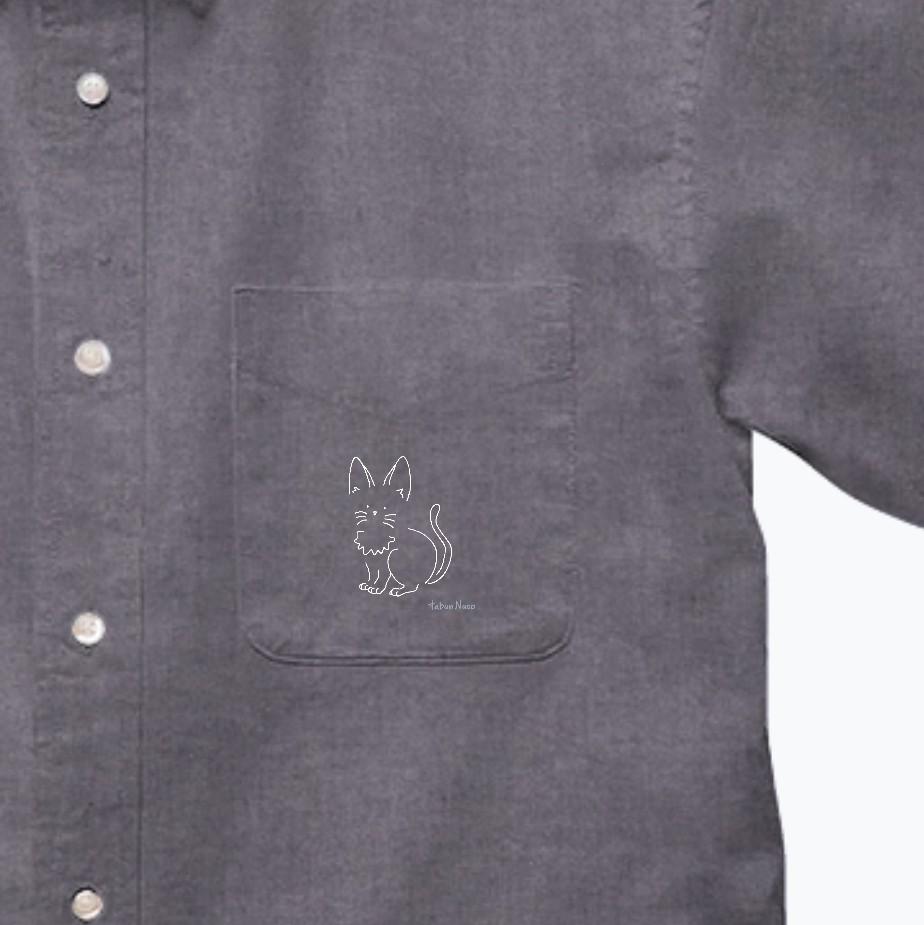 tabun Neko(たちみみ)/darkcolor/オックスフォードボタンダウンショートスリーブシャツ オックスフォードボタンダウンショートスリーブシャツ