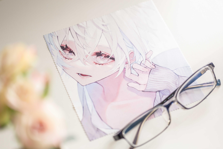 白 メガネクロス マイクロファイバーメガネ拭き