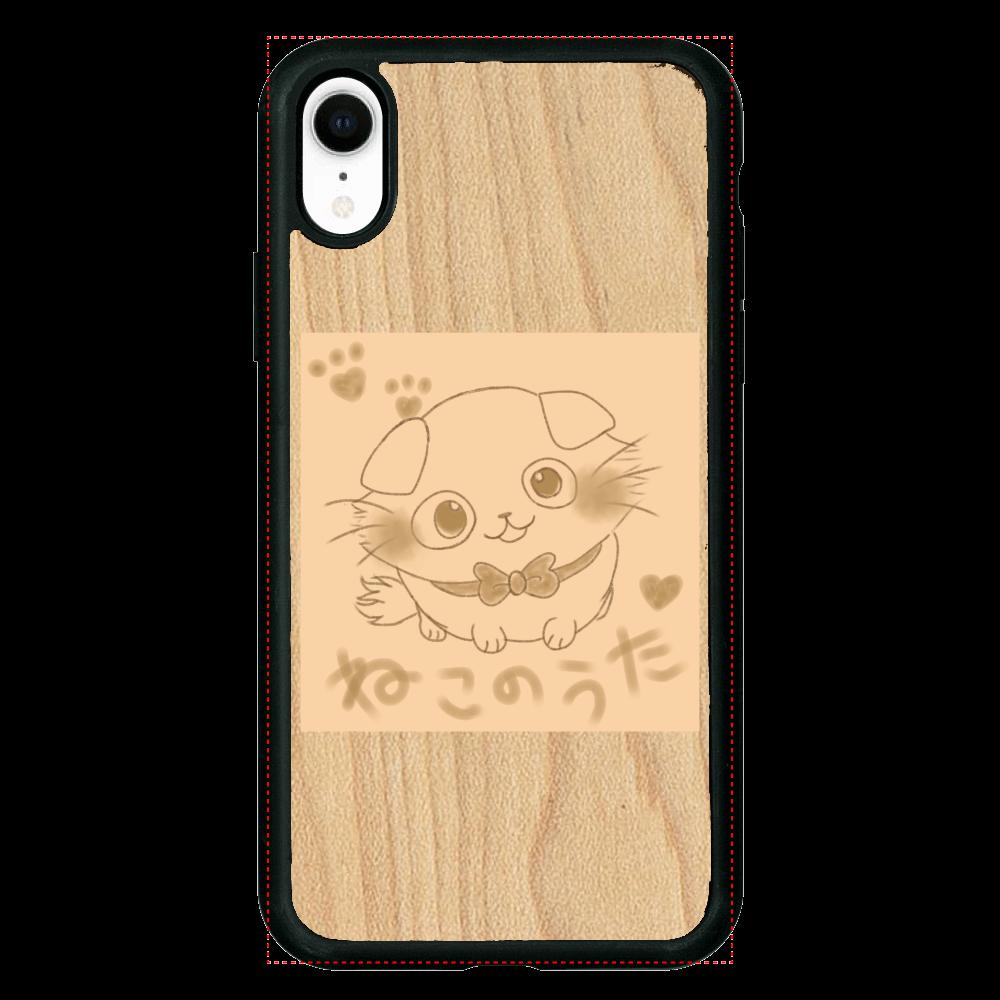 【数量限定】ねこのうた❁選べる♡iPhoneウッドケース♡ iPhoneXR ウッドケース