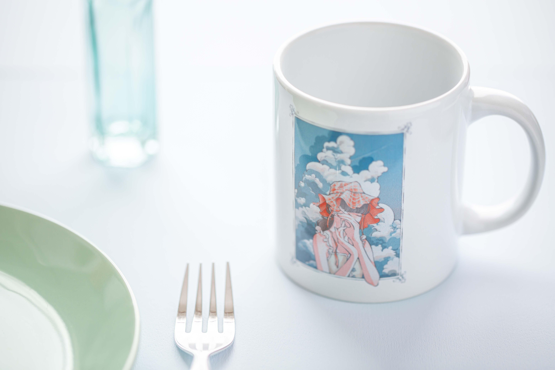 夏の盛り  マグカップ 陶器マグストレート(M)