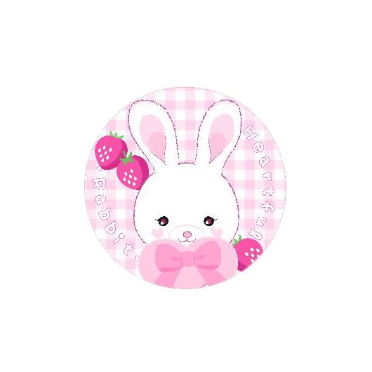Heartful Rabbit 44㎜缶バッジ  44㎜缶バッジ