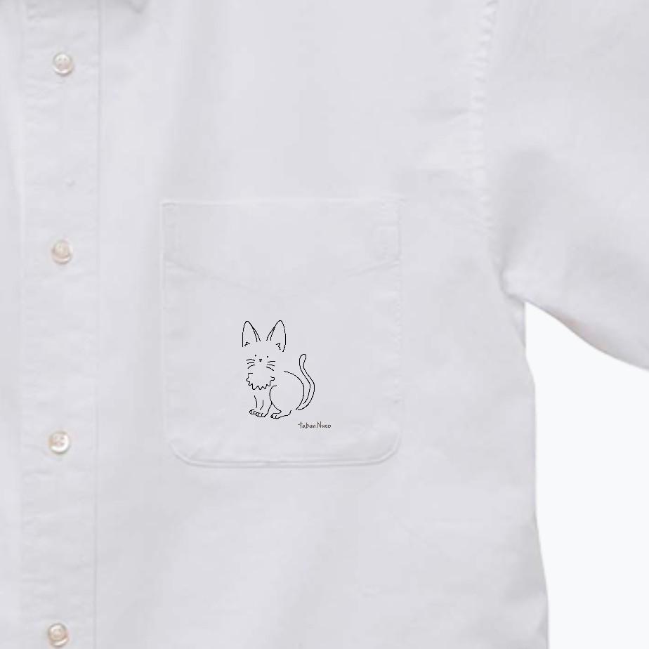 tabun Neko(たちみみ)/オックスフォードボタンダウンショートスリーブシャツ オックスフォードボタンダウンショートスリーブシャツ