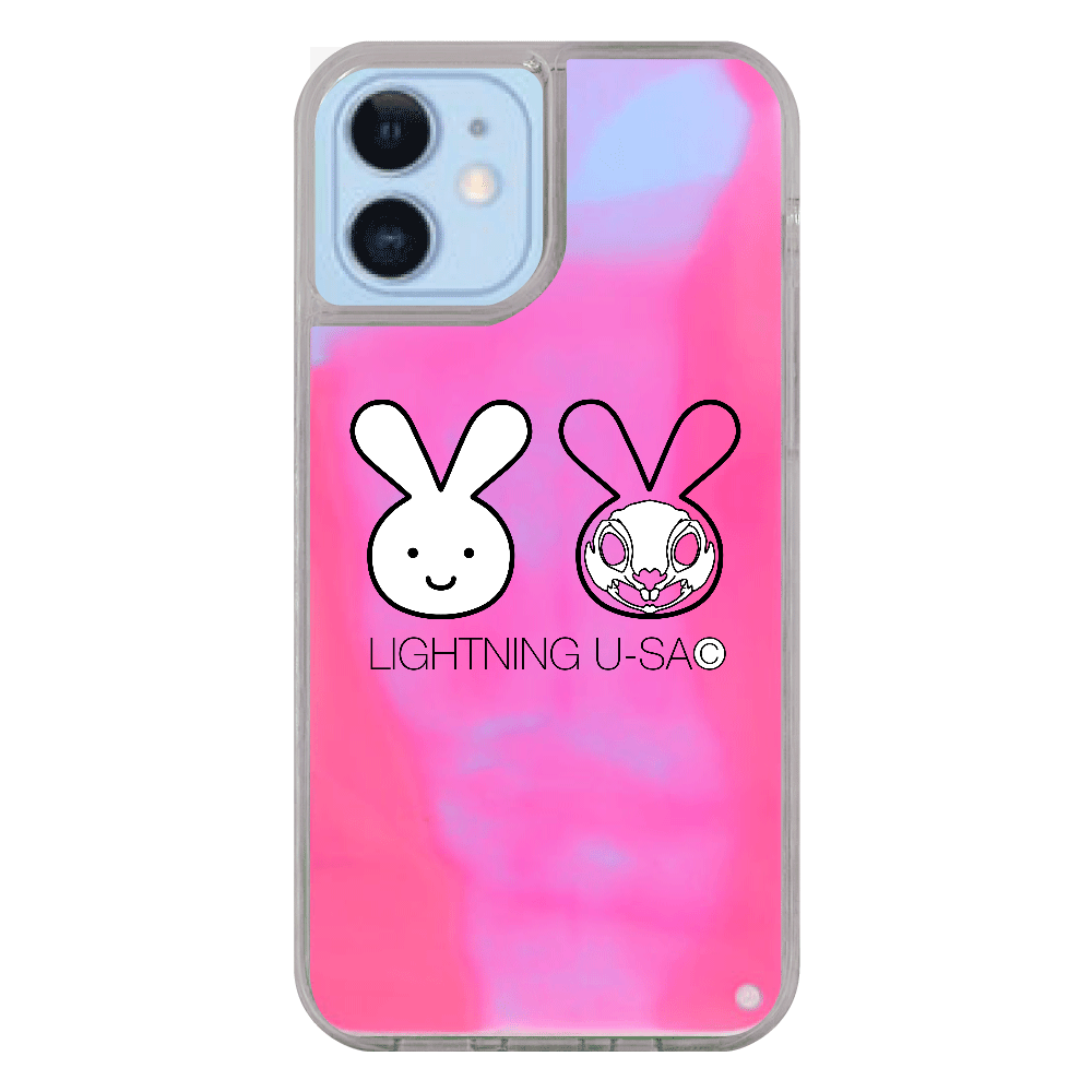 【iPhone12/12Pro】ライトニングうさちゃんスマホケース iPhone12/12pro ネオンサンドケース