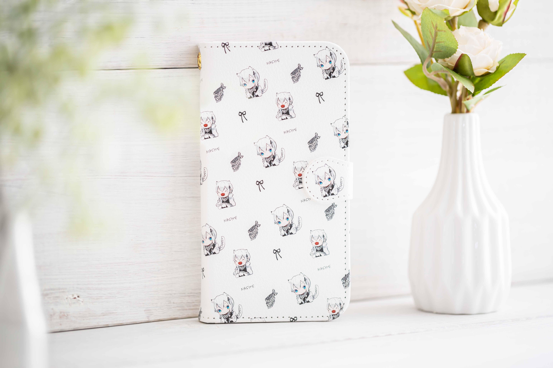 【オリラボ限定】書き下ろし ちびなしぇ 手帳型スマホケース iPhone11 手帳型スマホケース