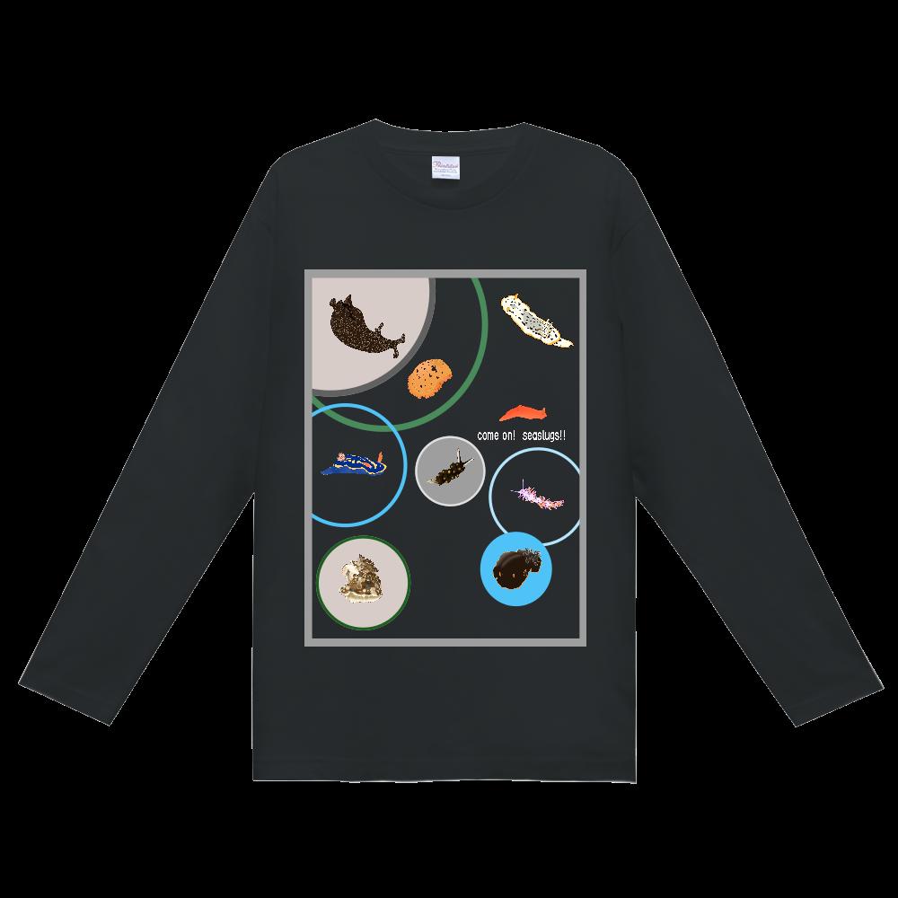 ウミウシTシャツ Ver.1 (長袖)黒 ヘビーウェイト長袖Tシャツ