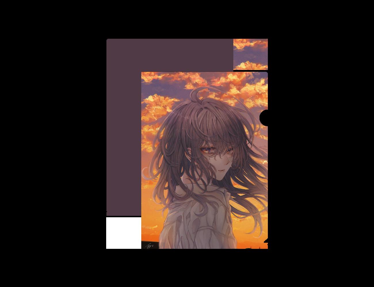 【オリラボマーケット限定】黄昏の亡霊 クリアファイル A4フルグラフィッククリアファイル