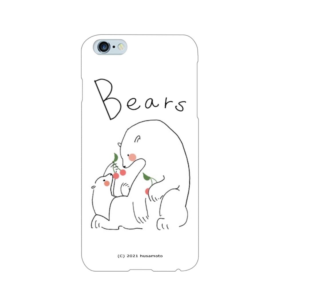 初夏にピッタリな大人かわいいしろくま親子 iPhone6Plus/6sPlus(白)