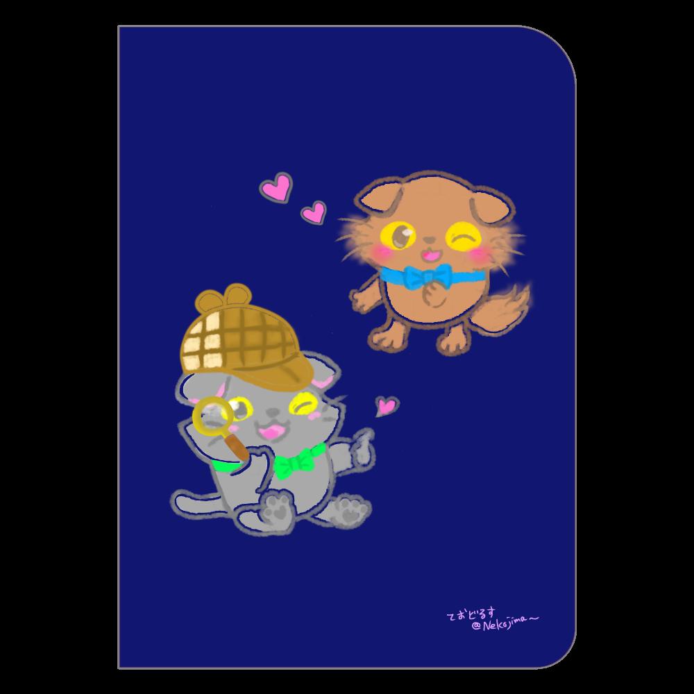 ねこのニャッホと❁全4色のノート♡(シンプルVer.) ハードカバーポケットノート