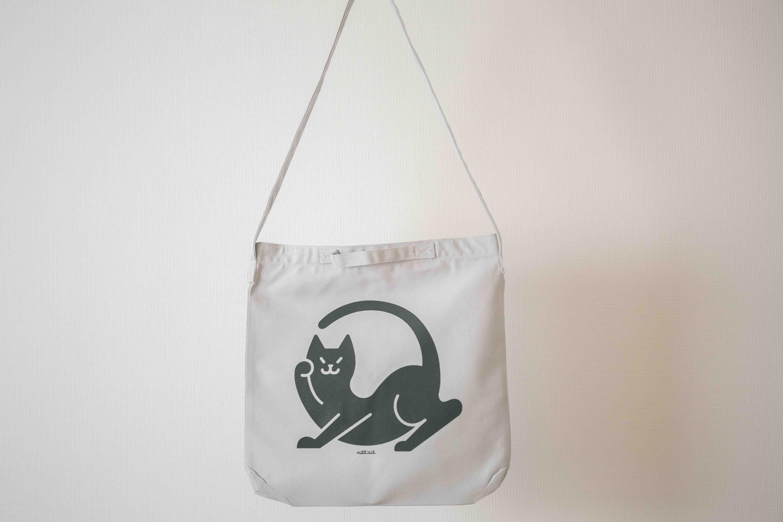 招き猫 バック ヘヴィーキャンバス 2WAYショルダーバッグ