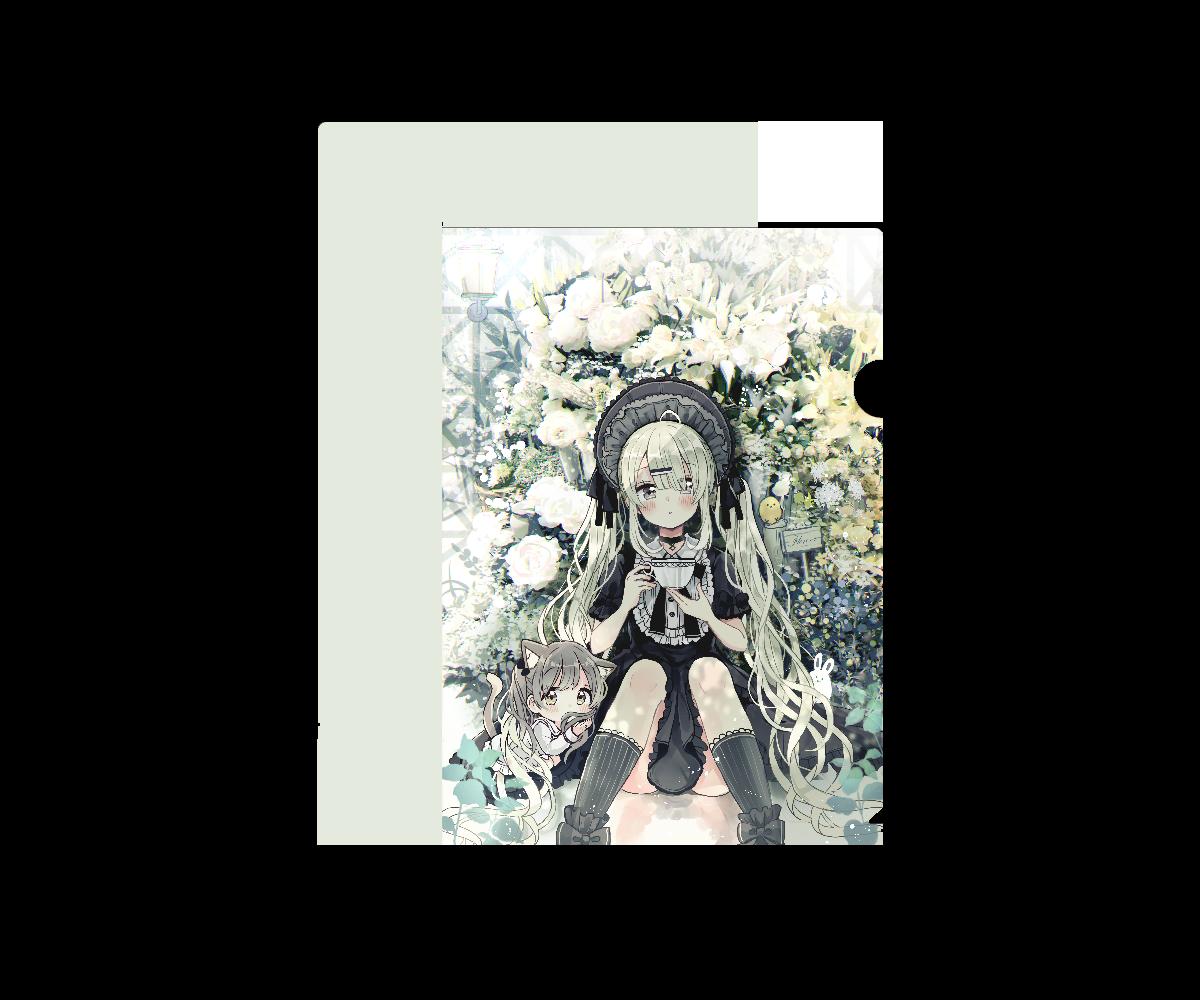 寡黙少女と秘密の花園 クリアファイル A4フルグラフィッククリアファイル