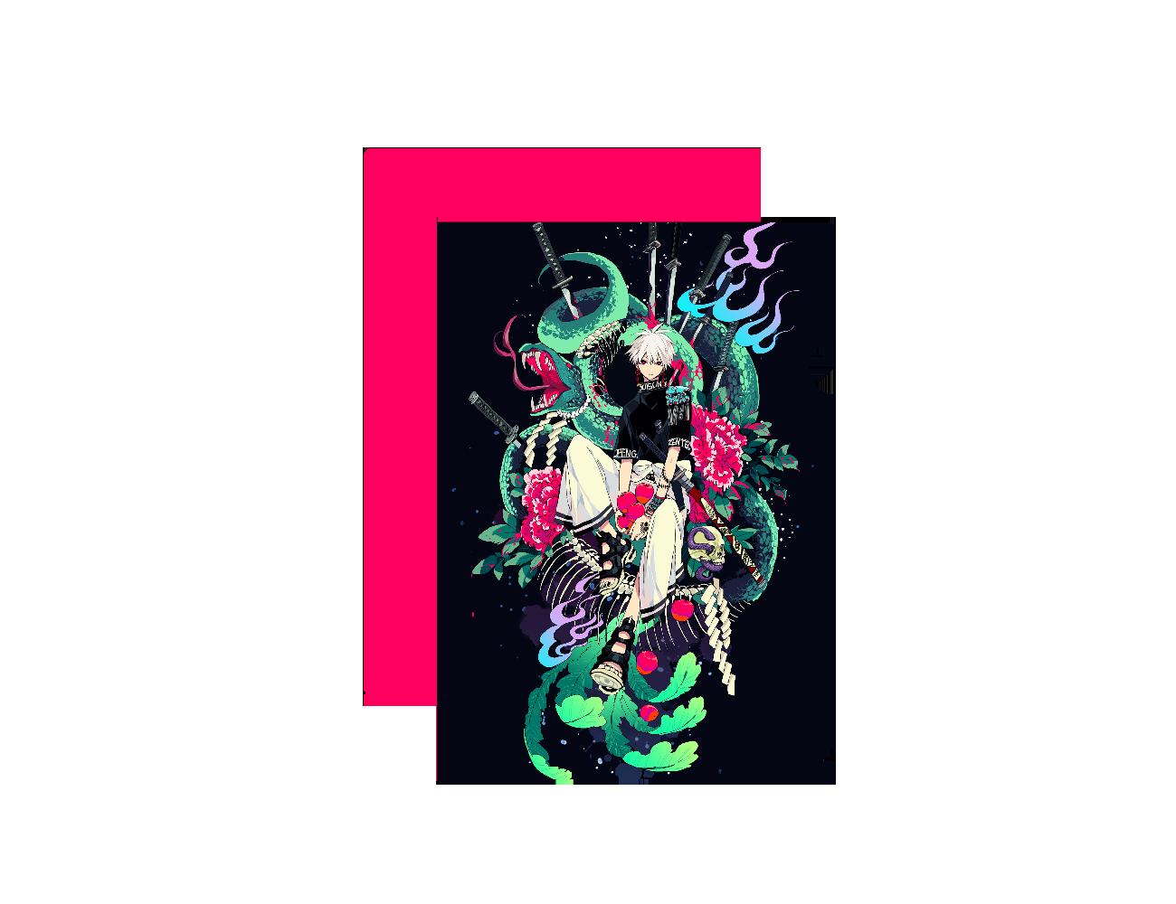 毒蛇 クリアファイル A4フルグラフィッククリアファイル