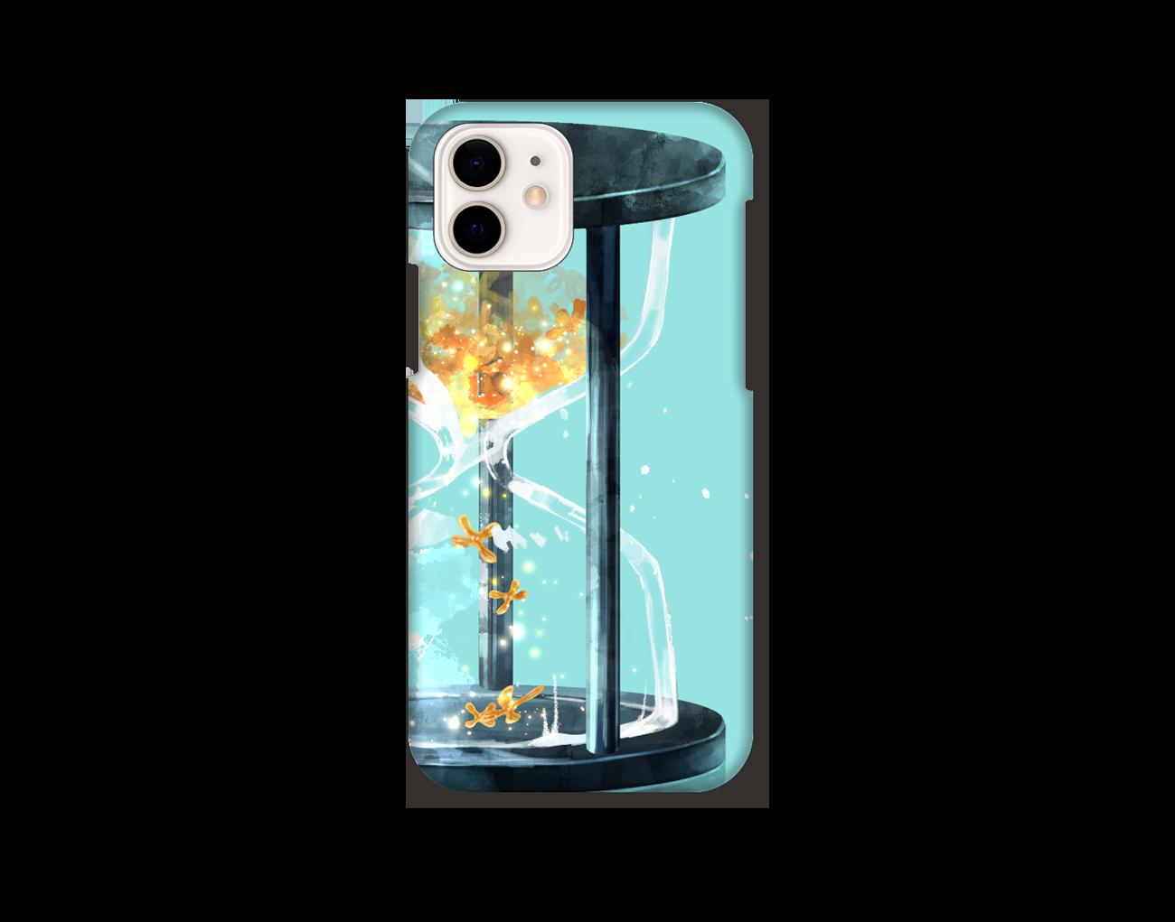 【オリラボマーケット限定】秋、金木犀、砂時計 スマホケース iPhone12 / 12 Pro