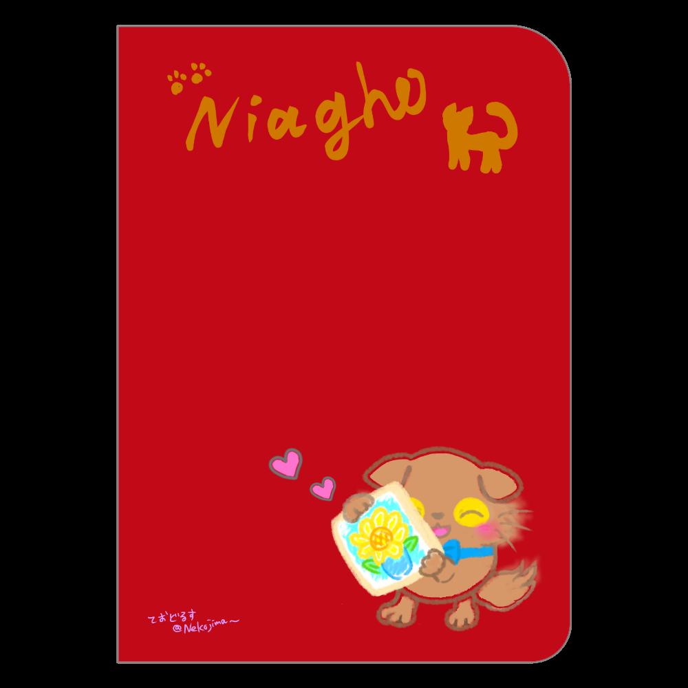 ねこのニャッホの❁全4色のノート♡ ハードカバーポケットノート