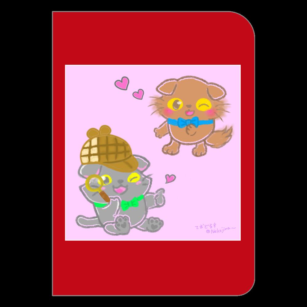 ねこのニャッホと❁全4色のノート♡ ハードカバーポケットノート