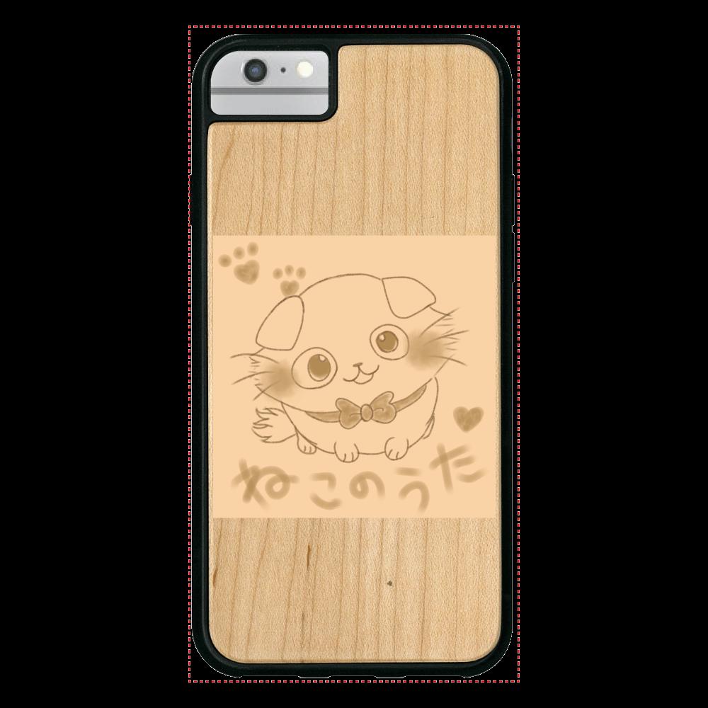 【数量限定】ねこのうた❁選べる♡iPhoneウッドケース♡ iPhone6/6S ウッドケース