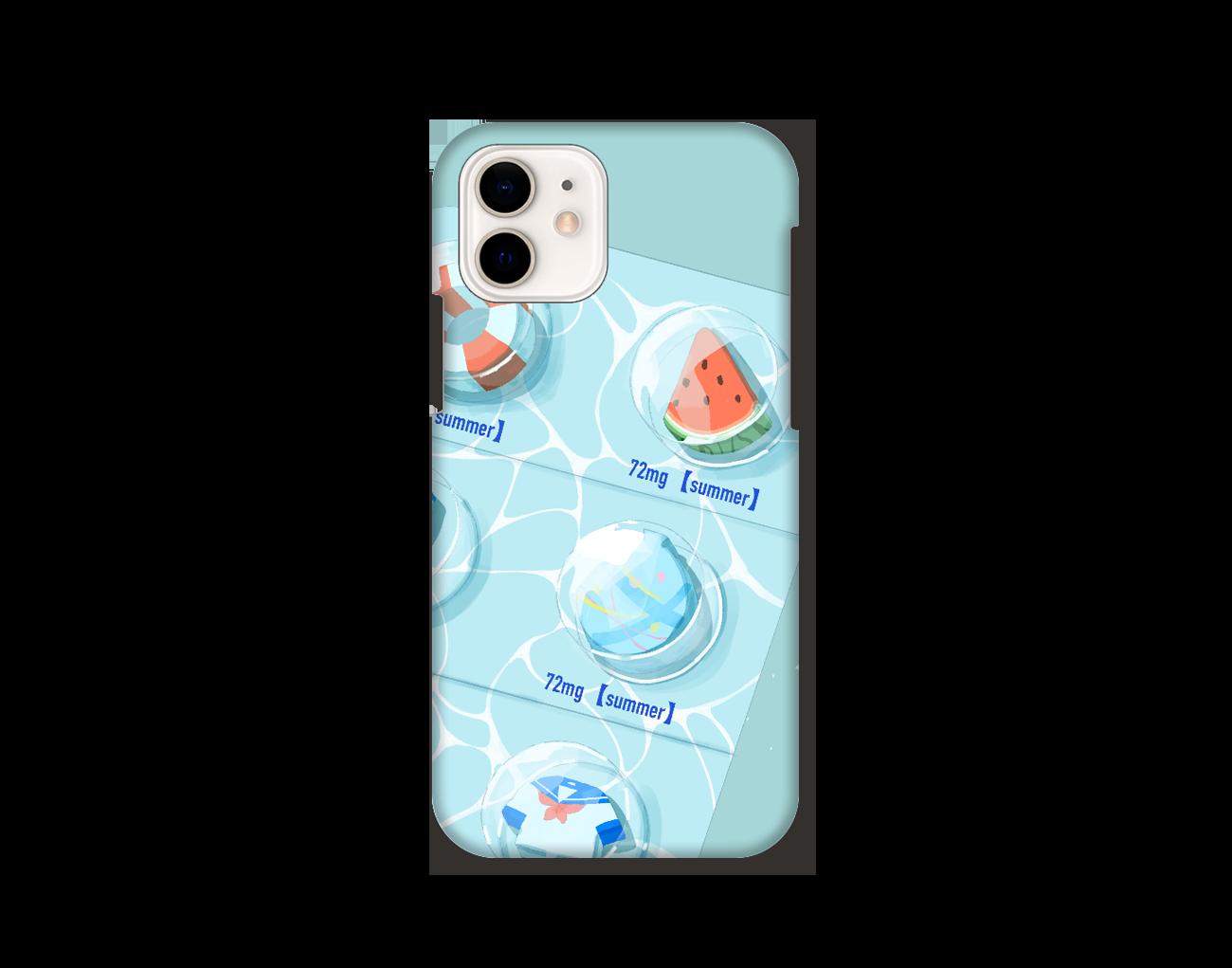 【オリラボマーケット限定】用法、用量を守って夏をお楽しみください。 スマホケース iPhone12 / 12 Pro