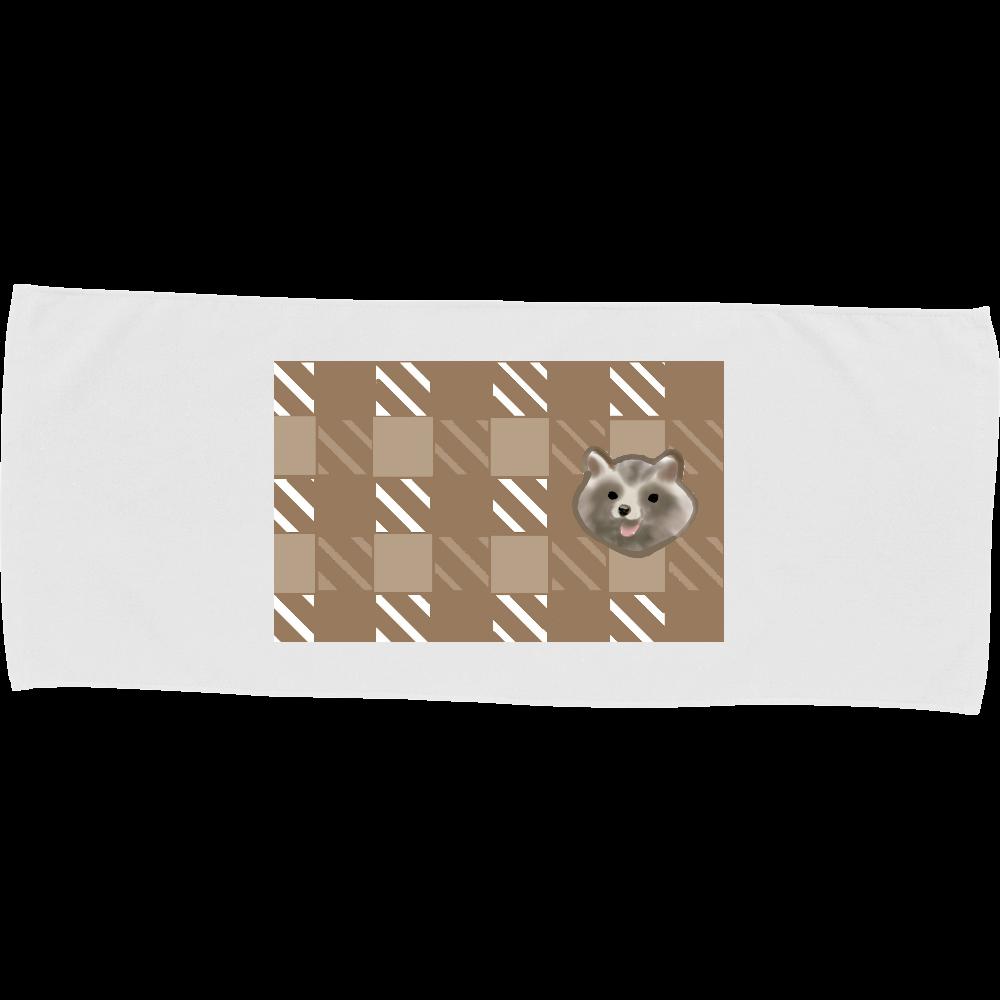 たぬ ブラウン カラーフェイスタオル