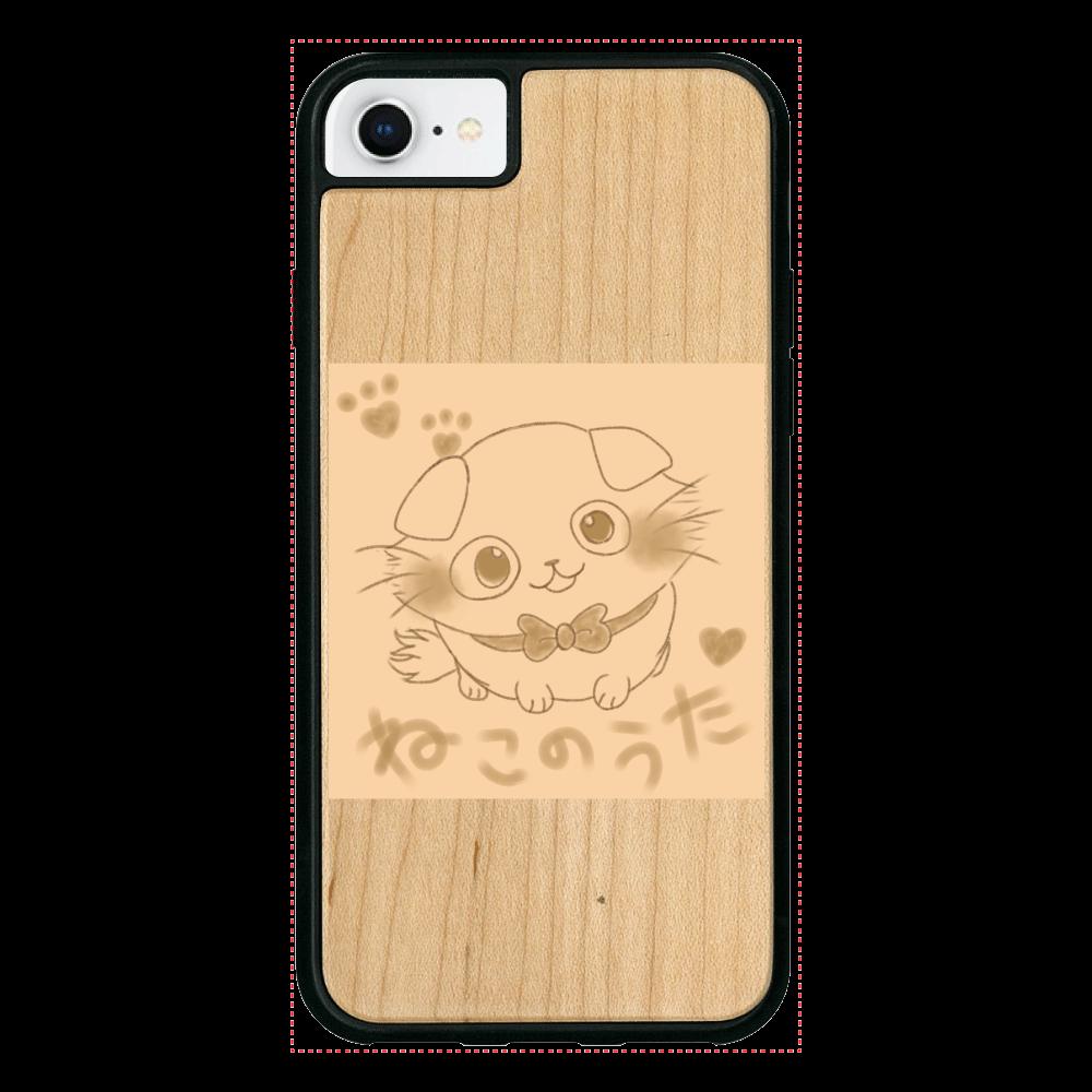 【数量限定】ねこのうた❁選べる♡iPhoneウッドケース♡ iPhone7 ウッドケース